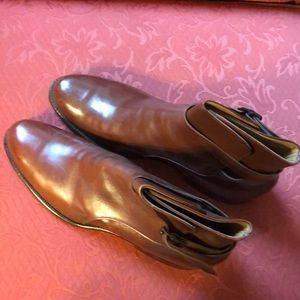 Brown leather boots by V L and A Chicago 8B